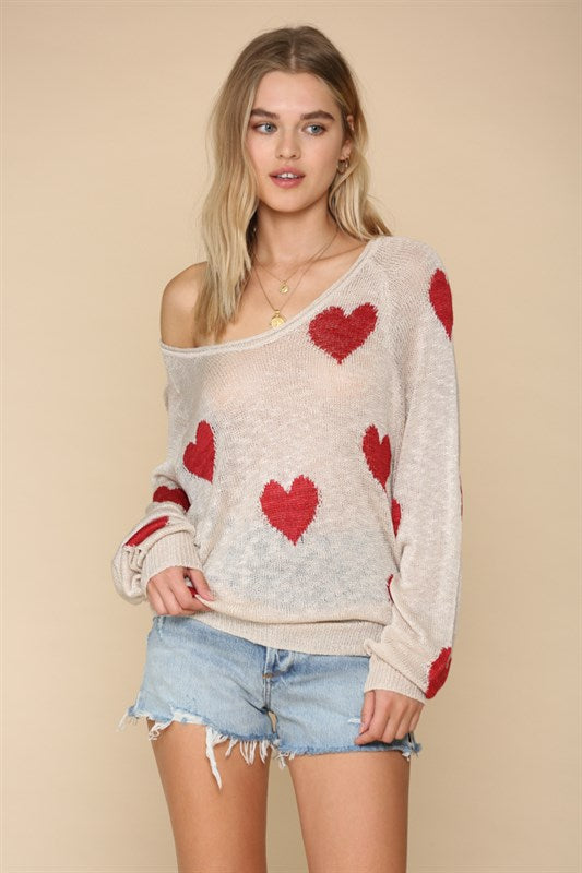 Hearts All Over Pullover