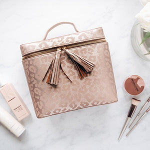 HOLLIS Leopard Lux Beauty Bag