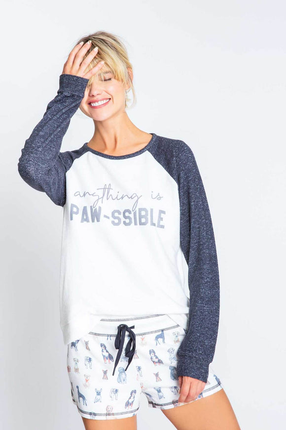 Anything Is Paw-ssible Long Sleeve Top