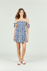 Summer Daisy Print Mini Dress