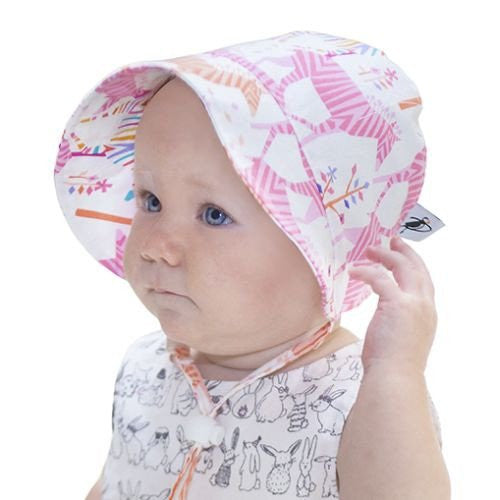 Puffin Gear Sun Bonnet - 0-3 months