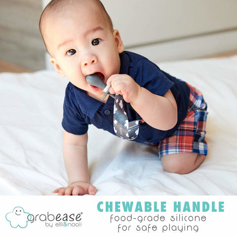 Grabease 2-in-1 Silicone Teether & Spoon