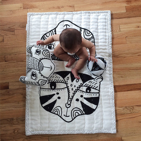 Wee Gallery Organic Quilted Play Blanket - Wild