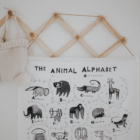 Wee Gallery Animal Alphabet Wall Hanging