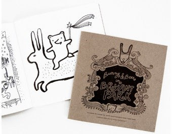 Wee Gallery Coloring Book - Bunny and Bear in Bryant Park
