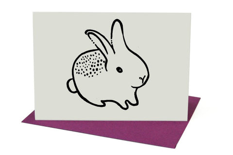 Wee Gallery Bunny Greeting Card with Envelope