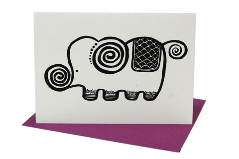 Wee Gallery Elephant Greeting Card with Envelope