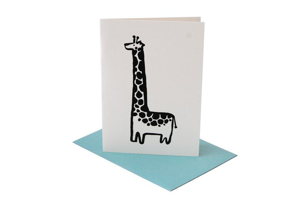 Wee Gallery Giraffe Greeting Card with Envelope