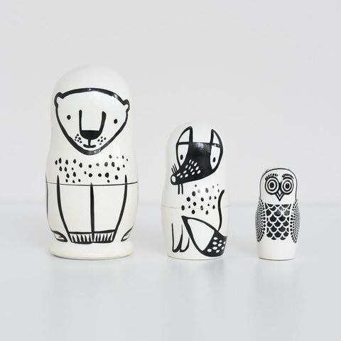 Wee Gallery Nesting Dolls - Forest Animals