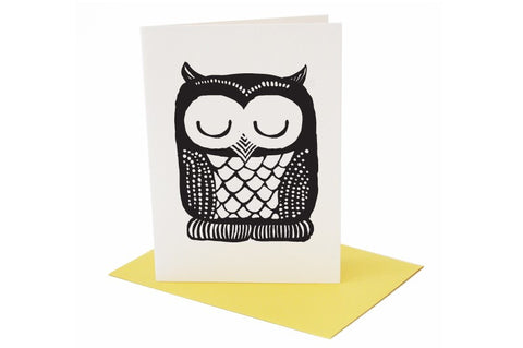 wee Gallery Owl Greeting Card with Envelope