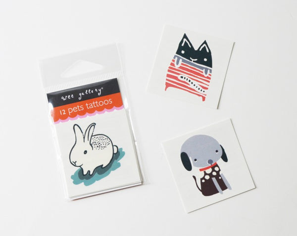 Wee Gallery Pets Temporary Tattoos