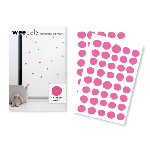 Wee Gallery Weecals - Hot Pink Dots