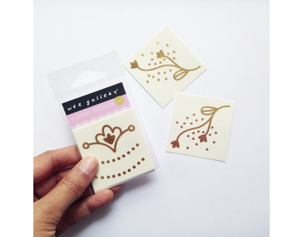 Wee Gallery Golden Pixie Temporary Tattoos