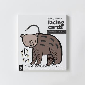 Wee Gallery Lacing Cards - Woodland