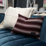 Stitched herringbone cushion