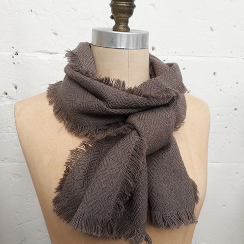 Taward Taupe Diamond Twill Scarves