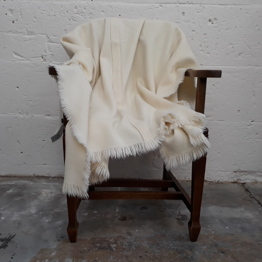 Natural White Throw