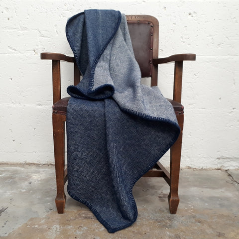 Royal Blue Diamond Twill Throw