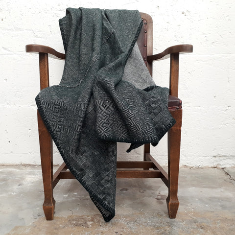 Bottle Green Twill Throw