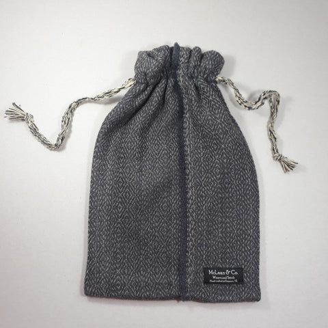 Dark grey diamond twill hot water bottle cover - Adult size