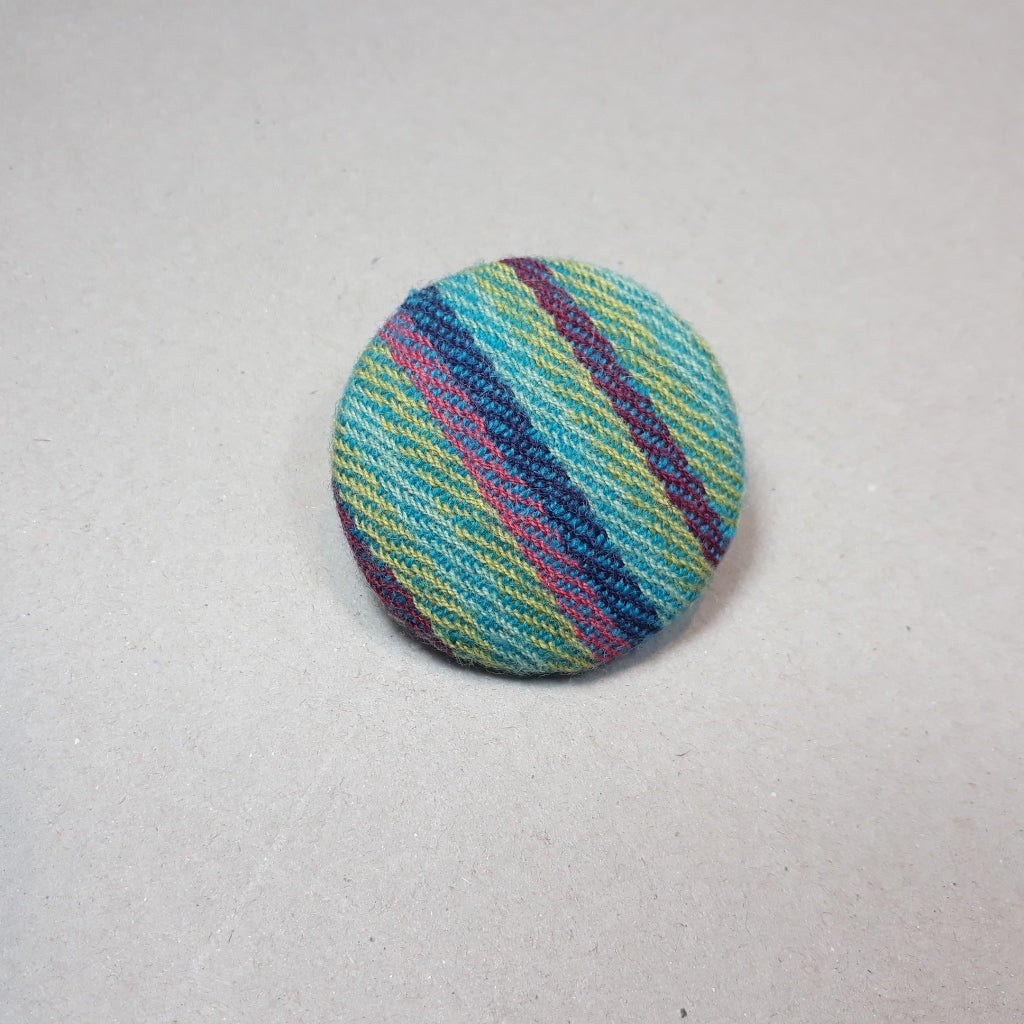 Striped tweed brooch