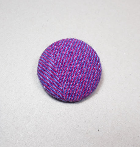 Pink and lilac tweed brooch