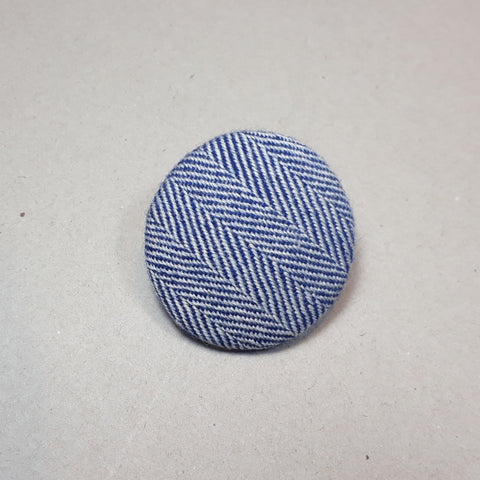 Blue herringbone brooch