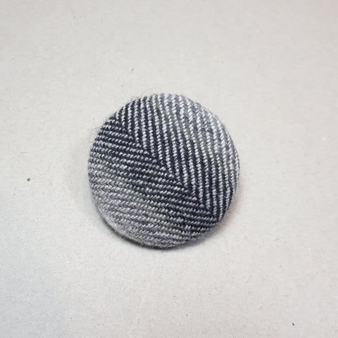 Grey tweed brooch
