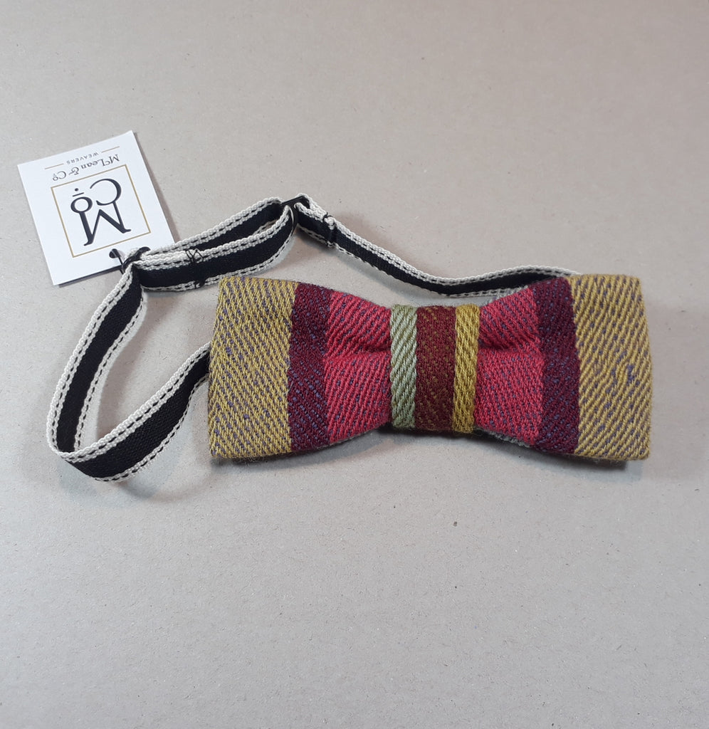 Regency stripe bow tie