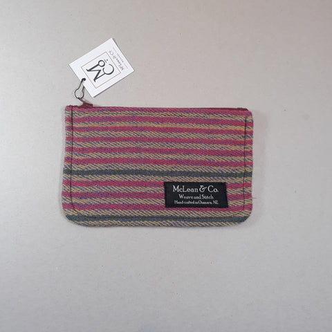 Striped pink and green striped purse