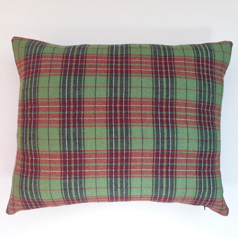 Red and green tartan cushion #1