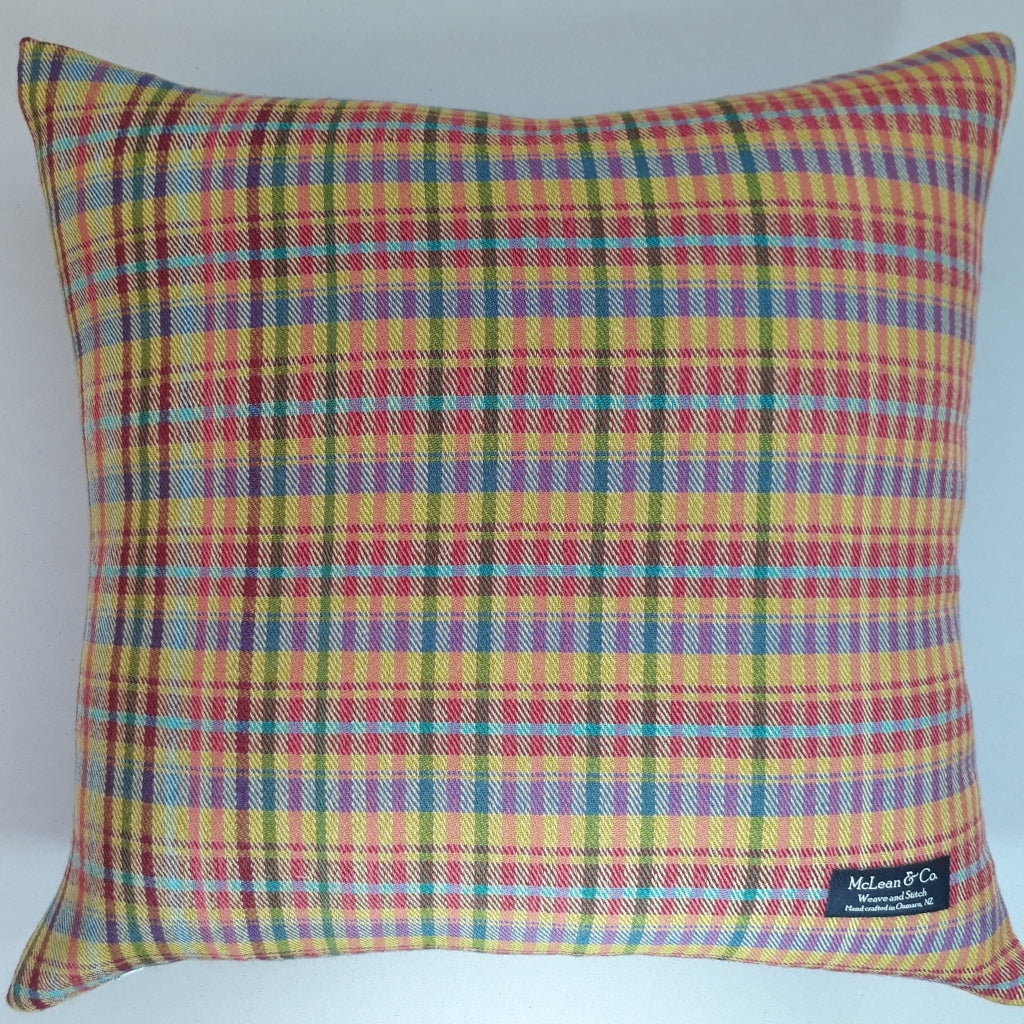 Chelmer check cushion #1