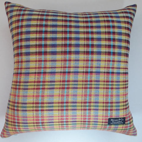 Chelmer check cushion #2