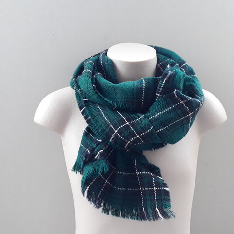 McLean tartan scarf  - bottle green