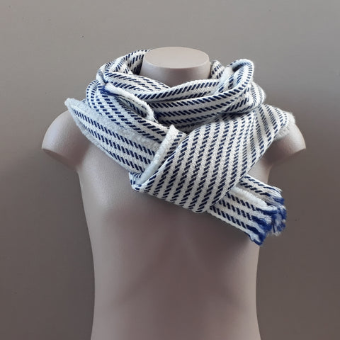 Nith Natural White Stripe Scarf
