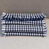 Nith navy and slate blue houndstooth scarf