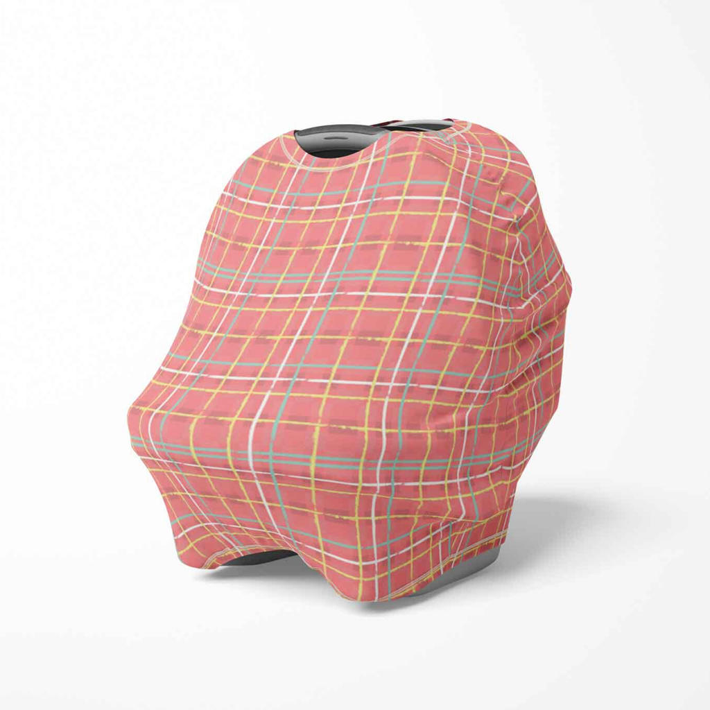 gender neutral baby cover, multi use baby cover, nursing cover, stroller cover, plaid baby cover