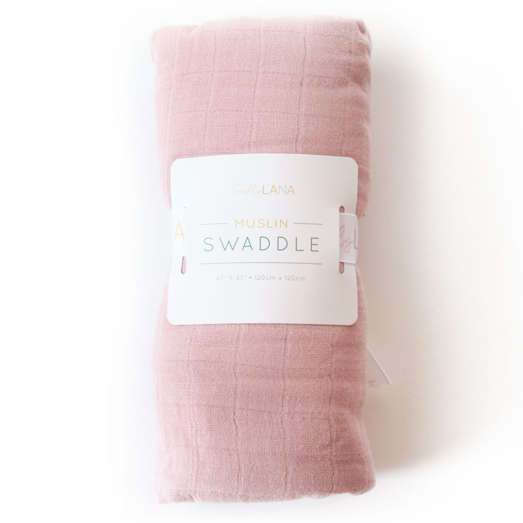 light pink muslin swaddle, baby blanket swaddle, bamboo muslin pink swaddle