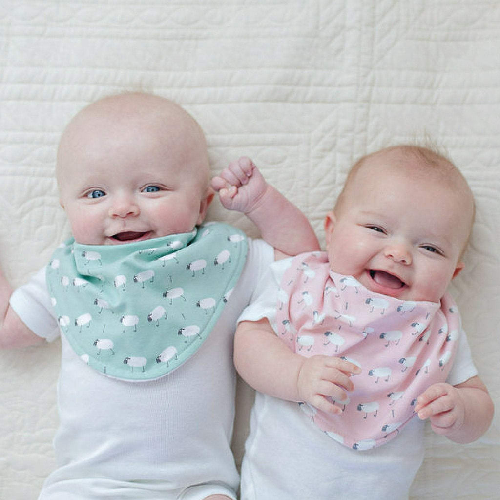Dolly Lana Designs baby bandana bib set - sheep girl