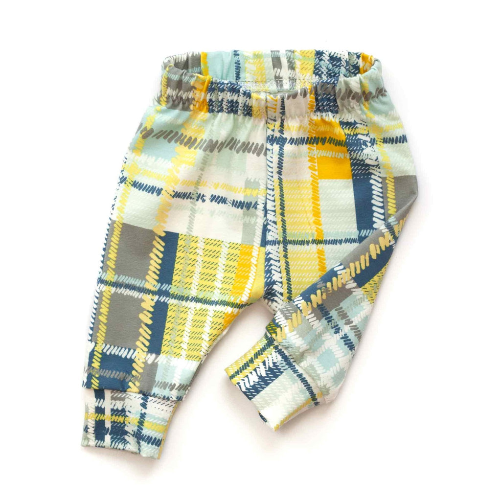 baby boy joggers, plaid baby boy pants, boy baby joggers, plaid baby leggings