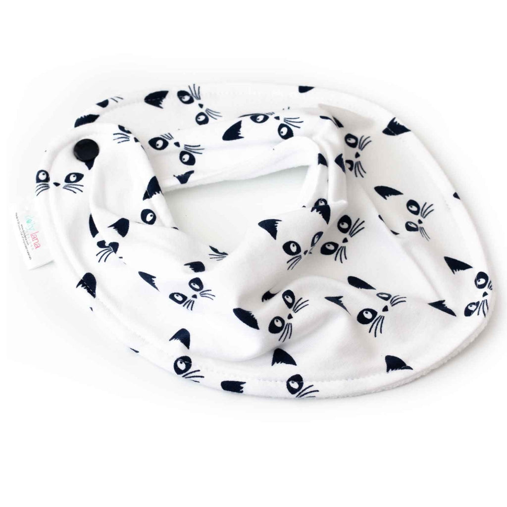 baby bandana bib set - kitty