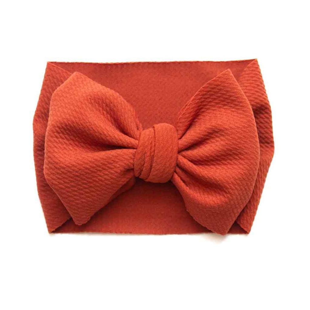big bow headwrap, baby bow headwrap, pumpkin spice baby bow, baby headwrap, oversized baby bow, fall baby bow