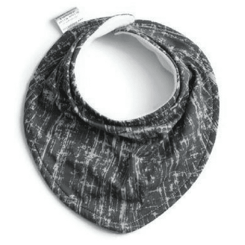 grey bib, gray bandana bib, pathwork grey baby bib, drool bib, teething bib