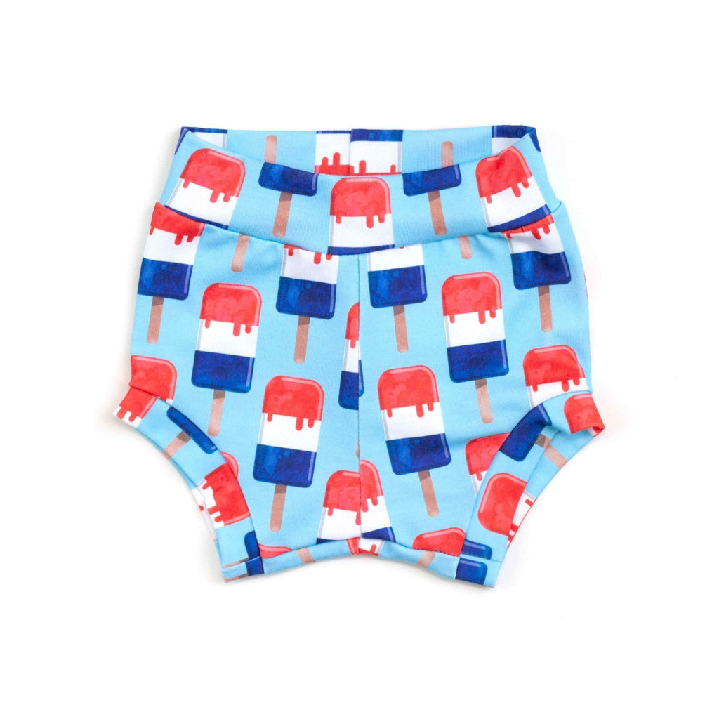 fourth of july shorties, baby bloomers, fourth of july baby shorts, unisex fourth of july
