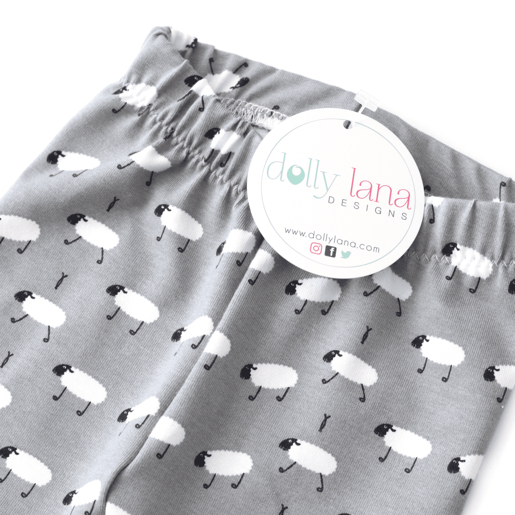 baby boy leggings, baby boy pants, sheep leggings, boy leggings, baby shower gift, modern baby leggings