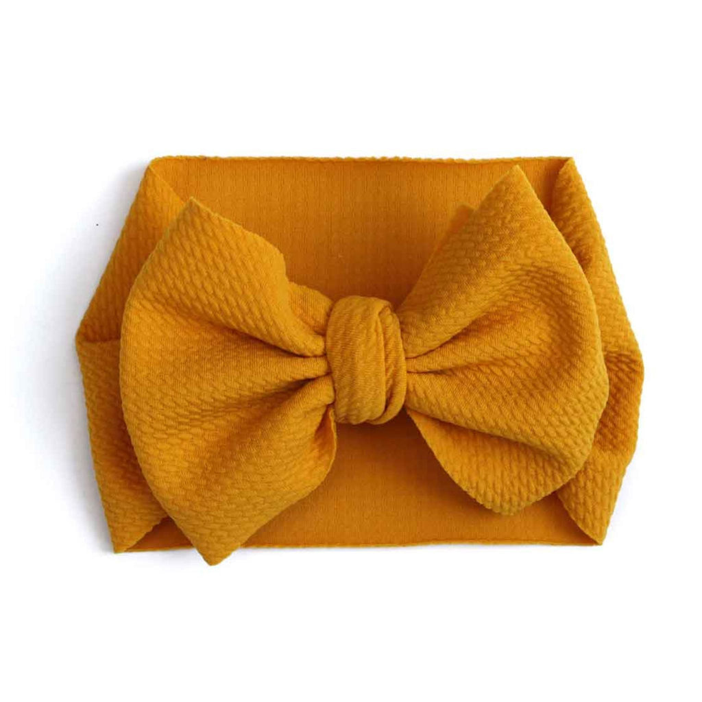 Dolly Lana Designs baby bow headwrap Mustard baby bow headwrap