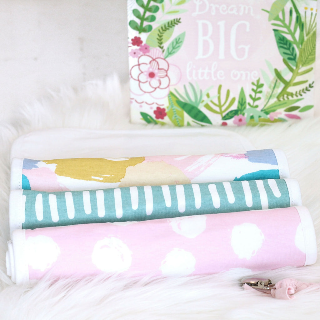 girl burp cloth set