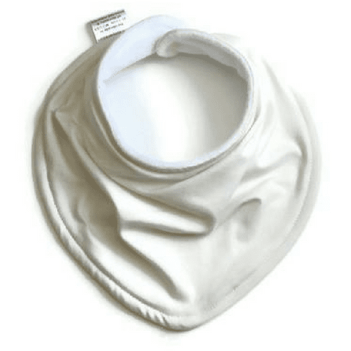 Cream baby bandana bib, cream bib, unisex bib, gender neutral bib
