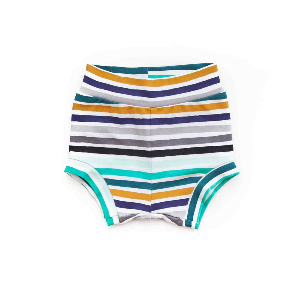 baby boy bummies, boy shorts, newborn boy bloomers, going home outfit, striped boy shorts