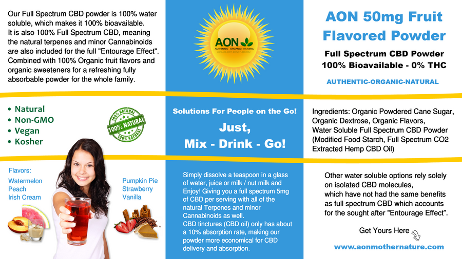 AON 50mg Fruit Flavored Powder